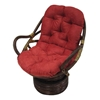 Microsuede Swivel Rocker Papasan Cushion