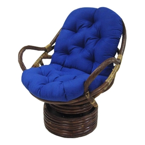 Solid Twill Swivel Rocker Papasan Cushion