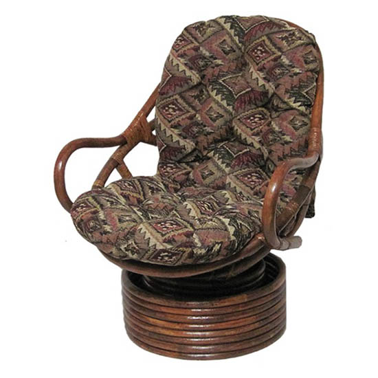 Tapestry Fabric Swivel Rocker Papasan Cushion