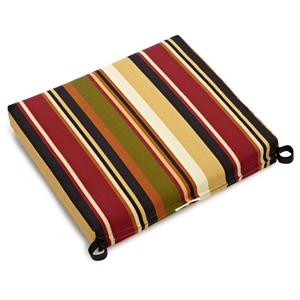 "21"" x 19"" Patio Chair Cushion - All-Weather, Patterned Fabric"