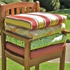 21'' x 19'' Chair Outdoor Cushion in Print or Solid Cover (Set of 2)