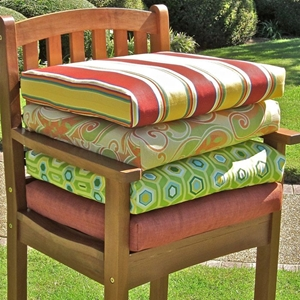 21 x 19 Chair Outdoor Cushion in Print or Solid Cover (Set of 2)