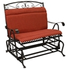rockers loveseat and cushion furniture outdoor glider galleries wicker cushions double park hickory patio