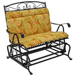 Outdoor Patio Loveseat Glider Cushion - Patterned Fabric