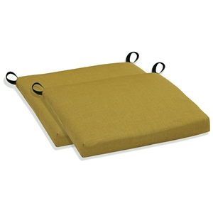 "20"" x 18"" Bistro Chair Cushion - All Weather, Solid Color (Set of 2)"
