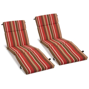"72"" Outdoor Double Chaise Lounge Cushions - Patterned Fabric"