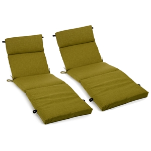 "72"" Outdoor Double Chaise Lounge Cushions - Solid Color Fabric"