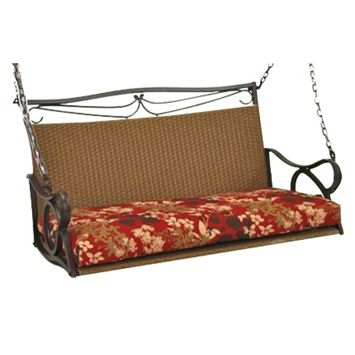 Valencia Wicker Double Patio Swing - INTC-4100-DBL
