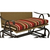 Valencia Iron and Wicker Double Patio Glider - INTC-4102-DBL