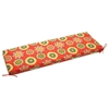 "48"" x 19"" Outdoor Bench Cushion - Ties, Patterned Fabric - BLZ-948X19-REO"