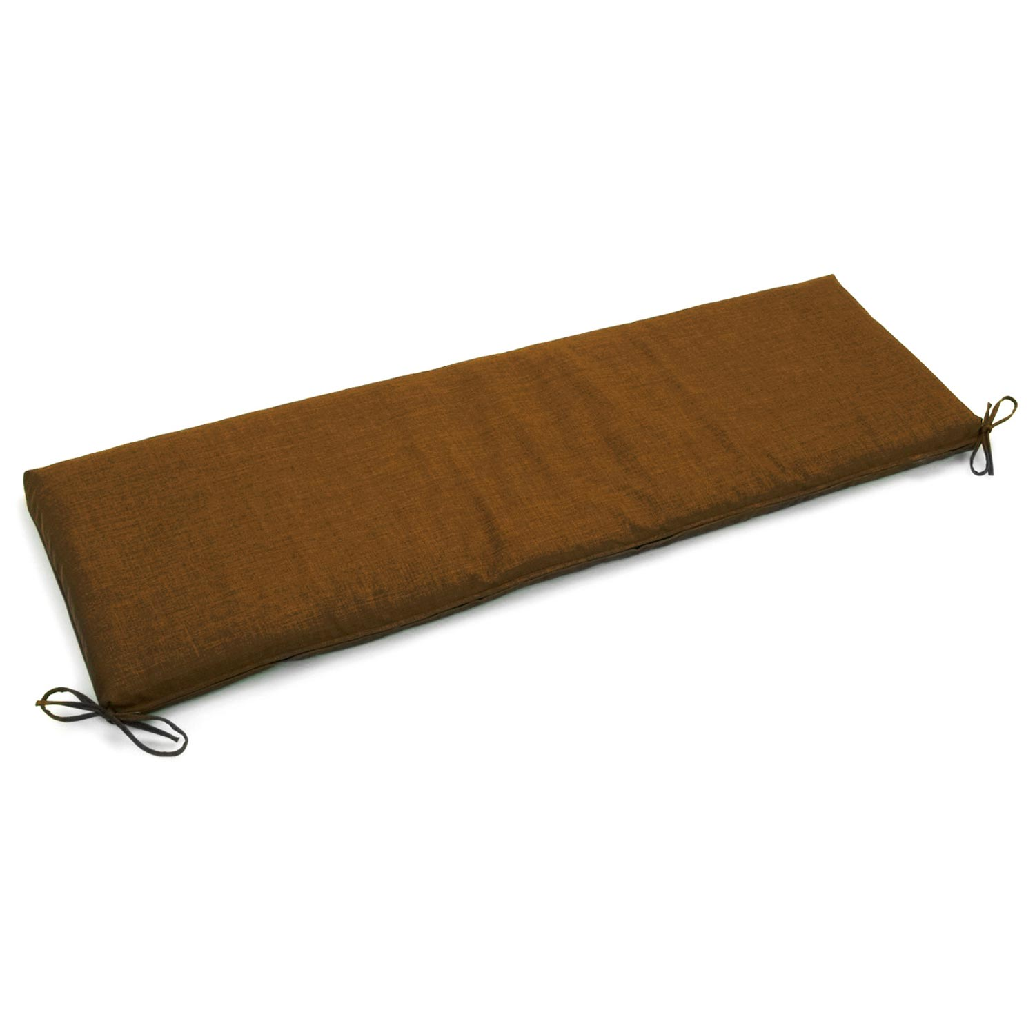 "54"" x 19"" Patio Bench / Swing Cushion - Ties, Solid Color Fabric - BLZ-954X19-REO-S"