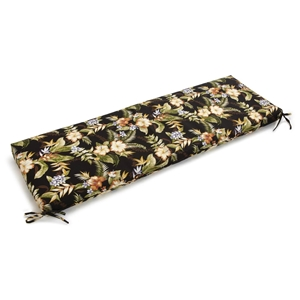 "60"" x 19"" Outdoor Bench Cushion - Ties, Patterned Fabric"