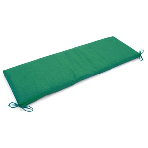 "60"" x 19"" Outdoor Bench Cushion - Ties, Solid Color Fabric"