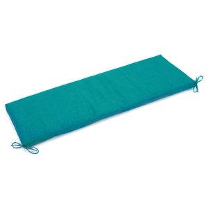 "63"" x 19"" Outdoor Bench Cushion - Ties, Solid Color Fabric"