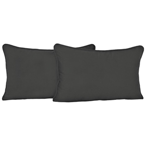 "20"" x 12"" Back Pillows - Cording, Twill (Set of 2)"