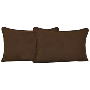 "20"" x 12"" Back Pillows - Cording, Microsuede (Set of 2)"