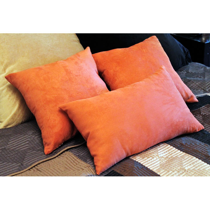 Microsuede 3 Piece Decorative Pillow Set - BLZ-9817-S2-MS-X