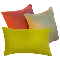 Solid Outdoor 3 Piece Decorative Throw Pillow Set