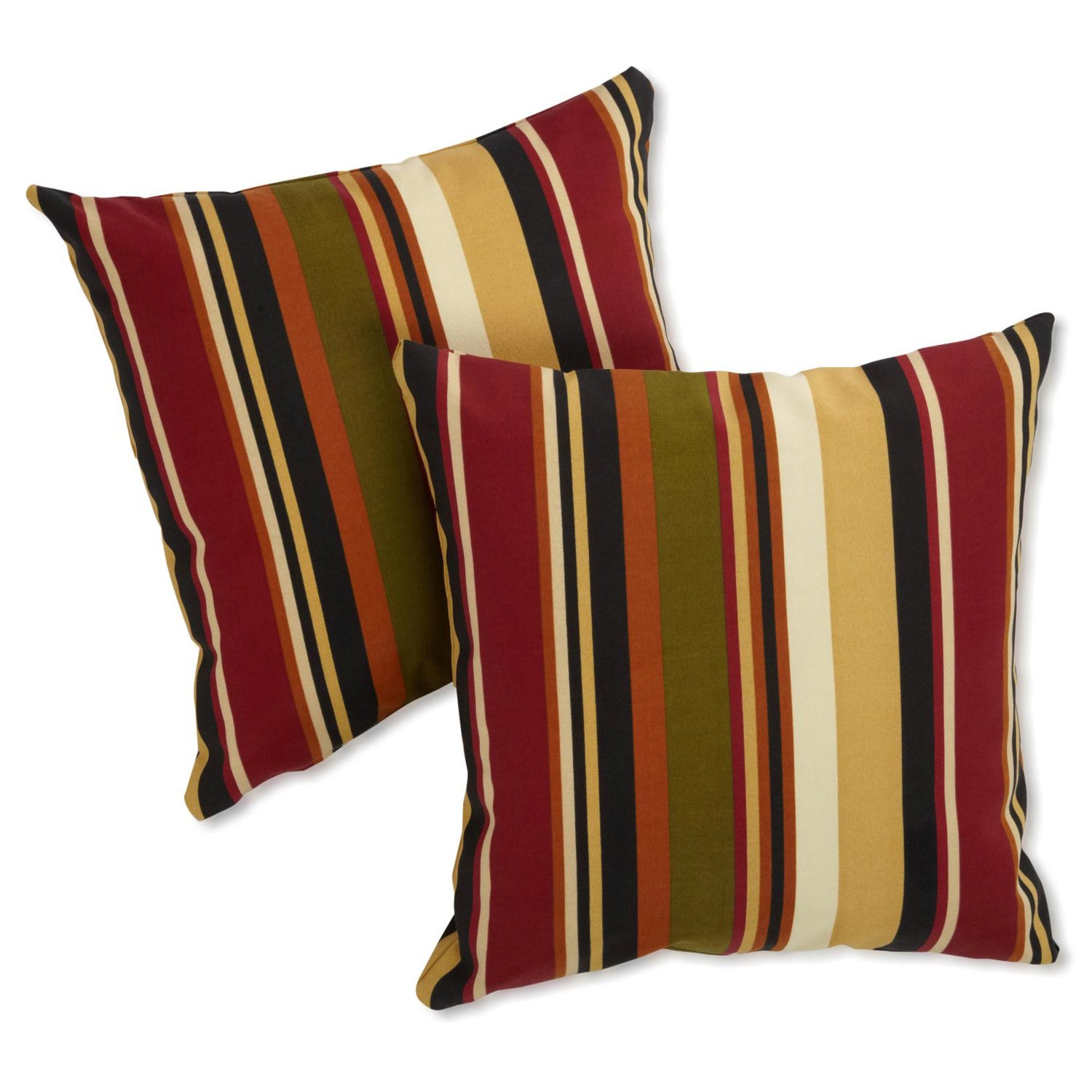 "25"" Outdoor Jumbo Throw Pillows - Patterned Fabric (Set of 2) - BLZ-9940-S-2-REO"