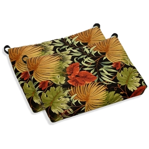 Outdoor Folding Bar Chair Cushion - Patterned Fabric (Set of 2)