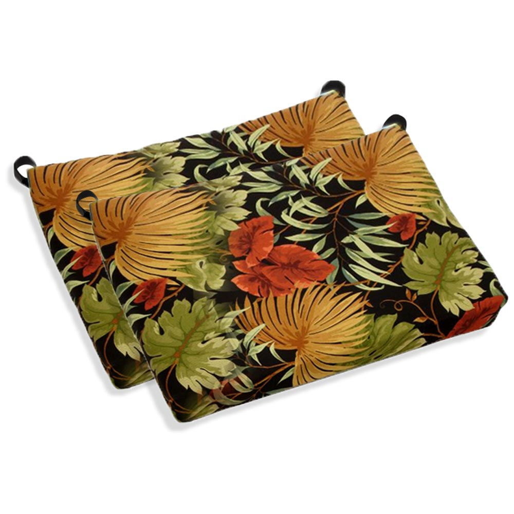 Outdoor Folding Bar Chair Cushion - Patterned Fabric (Set of 2) - BLZ-9TT-BC-007-2CH-REO