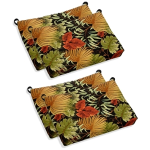 Outdoor Folding Bar Chair Cushion - Patterned Fabric (Set of 4)