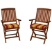 Outdoor Folding Chair Cushion - Patterned Fabric (Set of 2) - BLZ-9TT-FA-40-2CH-REO
