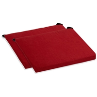 Outdoor Folding Chair Cushion - Solid Color Fabric (Set of 2)