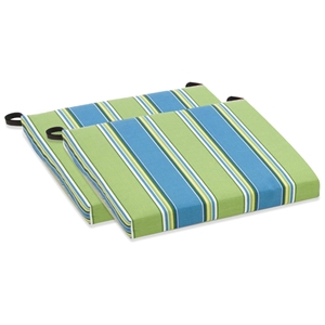 Outdoor Folding Chair Cushion - Patterned Fabric (Set of 2)
