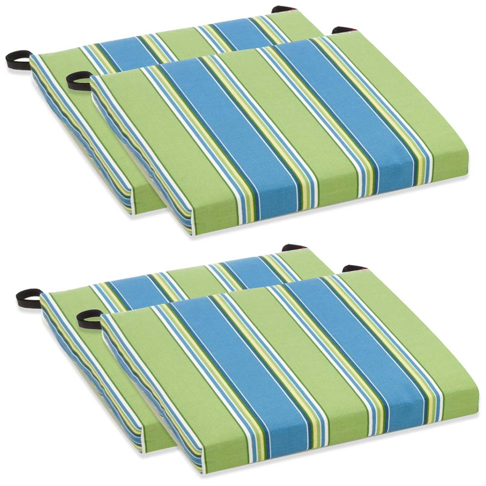 Outdoor Folding Chair Cushion - Patterned Fabric (Set of 4) - BLZ-9TT-FA-40-4CH-REO
