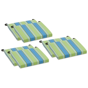 Outdoor Folding Chair Cushion - Patterned Fabric (Set of 6)