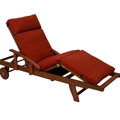 Royal Tahiti Wooden Chaise with Multi-Position Deck - INTC-TT-SL-012-A