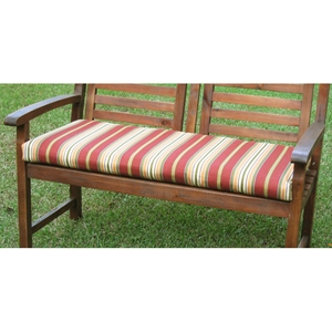 42 Inch 2-Seater Bench Cushion with Mix Pattern Cover