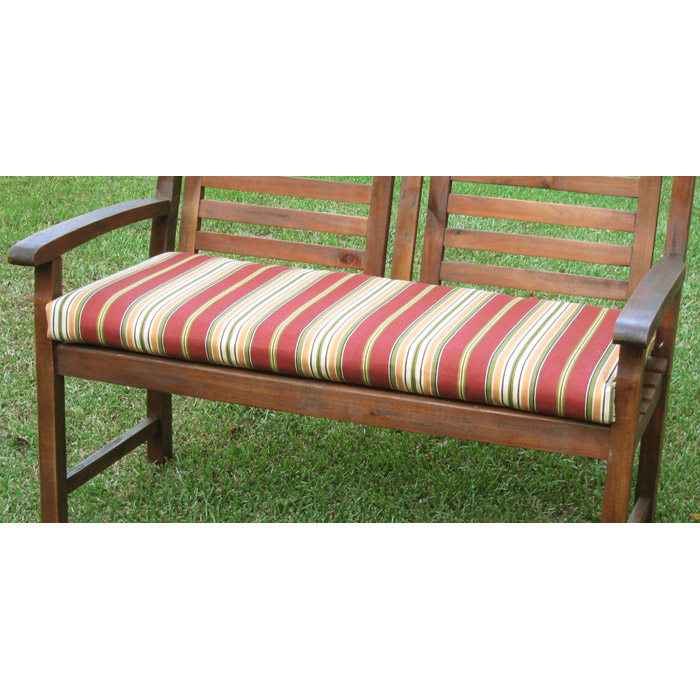 42 Inch 2 Seater Bench Cushion With Mix Pattern Cover