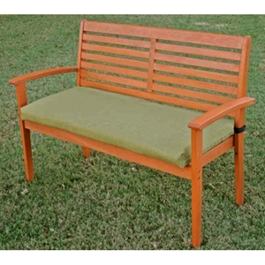 42 Inch 2-Seater Bench Cushion with Solid Cover