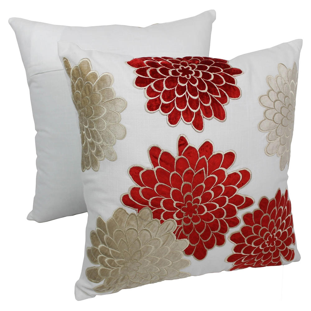 Throw Pillows Set Of 4 : Floral Bursts 20