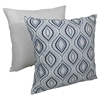 "Palette Ogee 20"" Throw Pillows - Blue Embroidery and Ivory Fabric (Set of 2) - BLZ-FL-7-20-S2-TL"