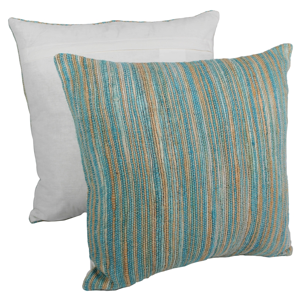 Blue Striped Decorative Pillows : 20