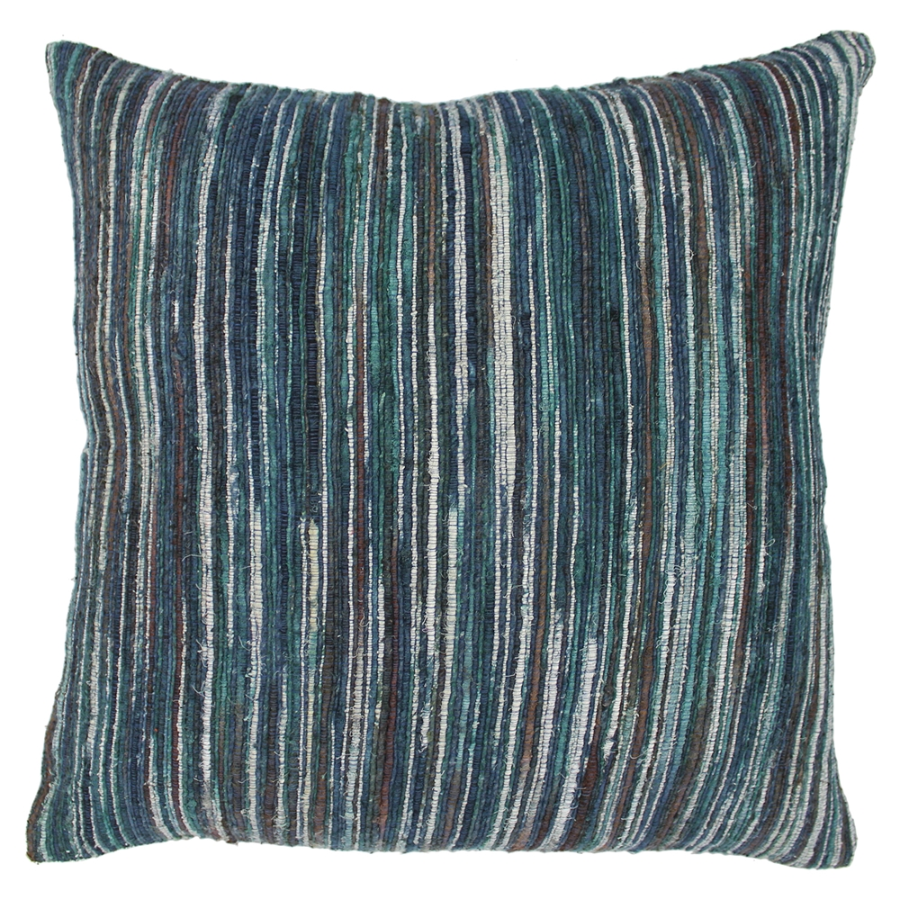 Baby Blue And Brown Throw Pillows : Blue and Brown Natural Palette Striped 20