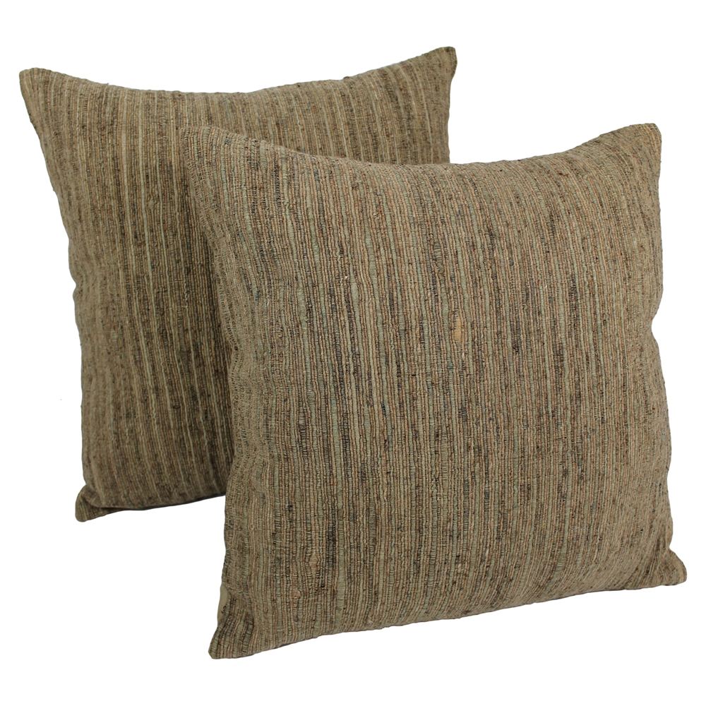 20 Quot Throw Pillows Brown And Beige Red Palette Striped