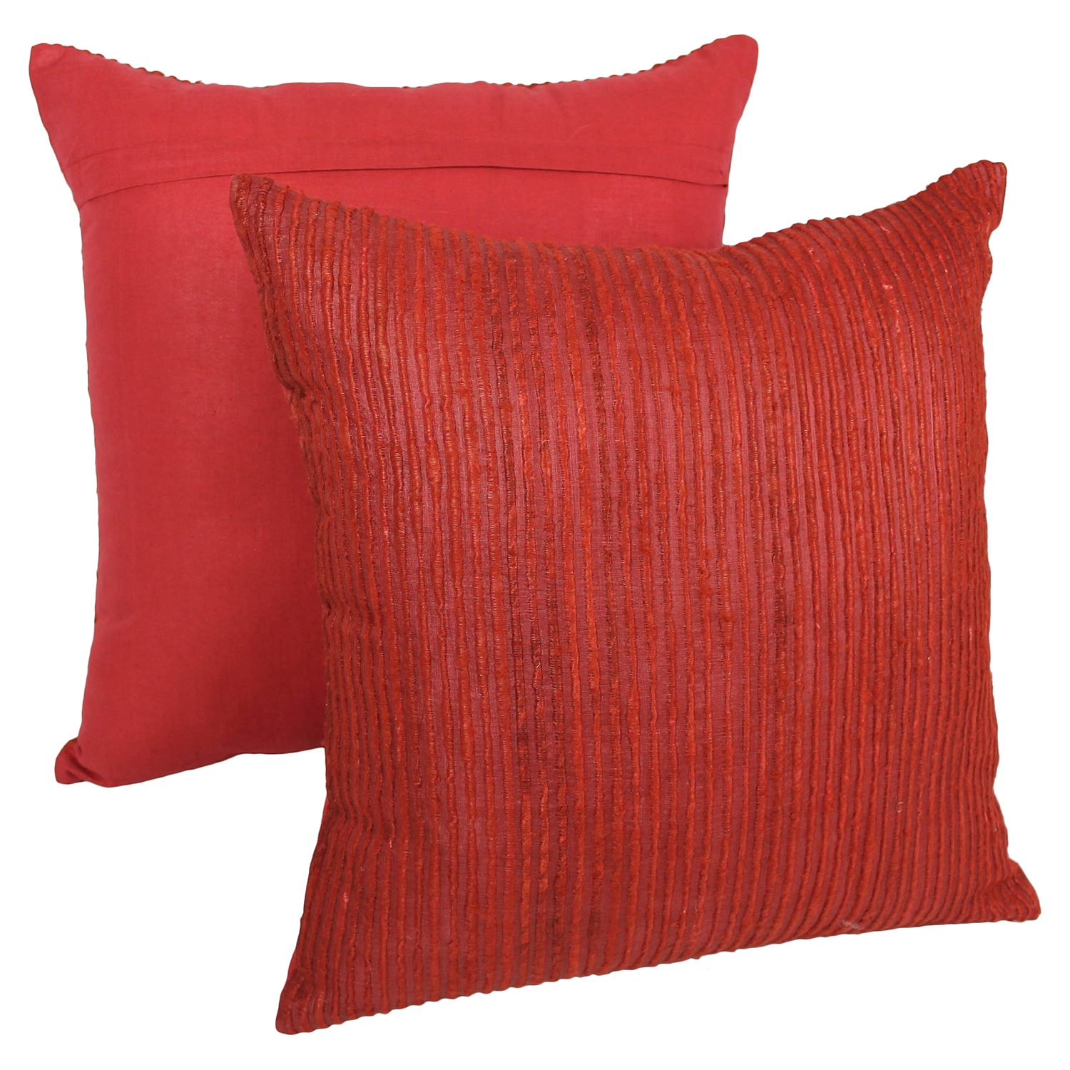 "Yarn Woven 20"" Throw Pillows - Red (Set of 2) - BLZ-IE-20-YRN-S2-RD"