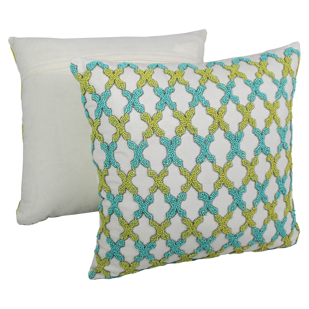 Decorative Pillows With Beads : Moroccan Patterned Beaded 20