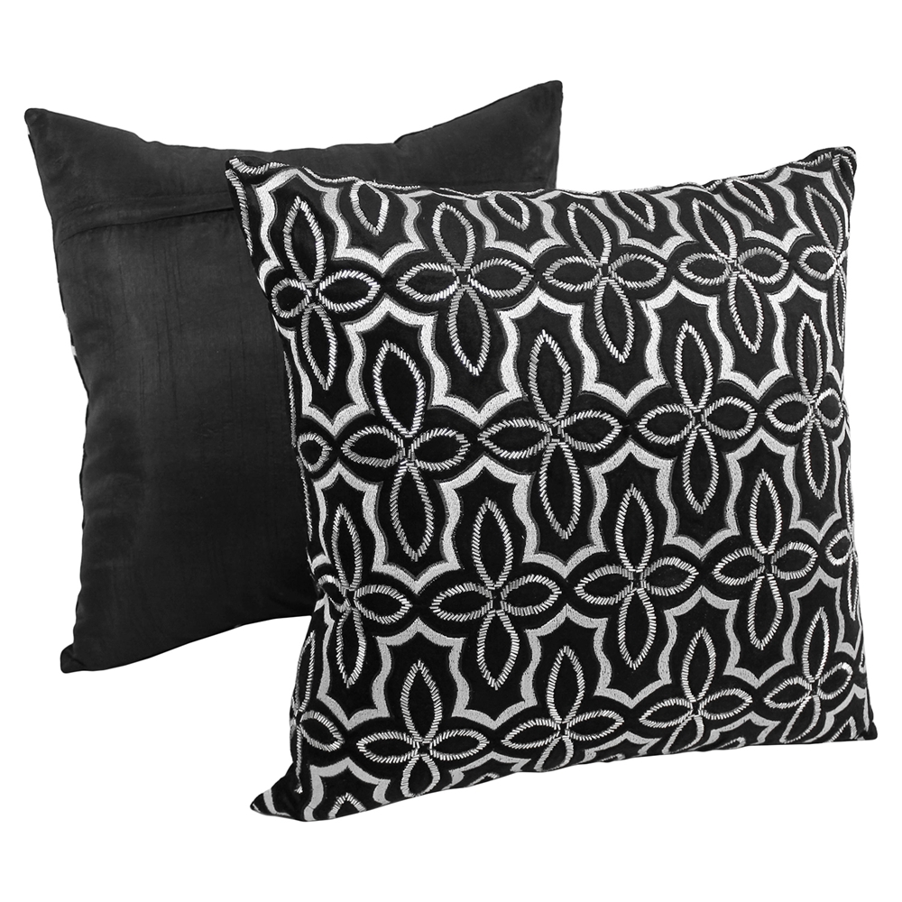 Black Beaded Throw Pillow : Moroccan Beaded Velvet 20