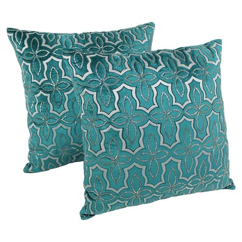Silver Beaded Decorative Pillow : Moroccan Beaded Velvet 20