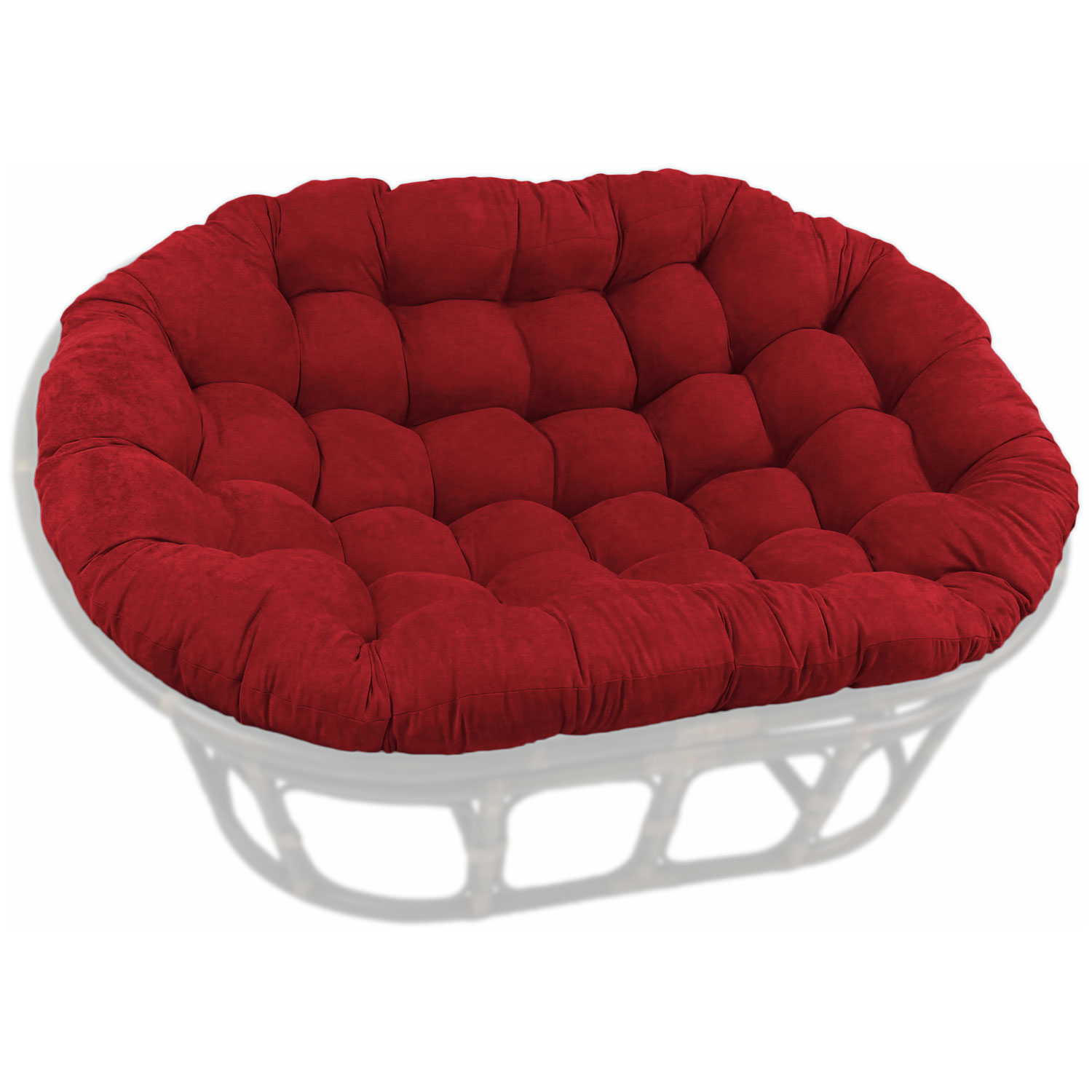 78 X 58 Oversized Double Papasan Cushion Tufted Microsuede Blz