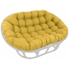 60'' x 48'' Outdoor Fabric Tufted Double Papasan Cushion - BLZ-93304-REO-SOL