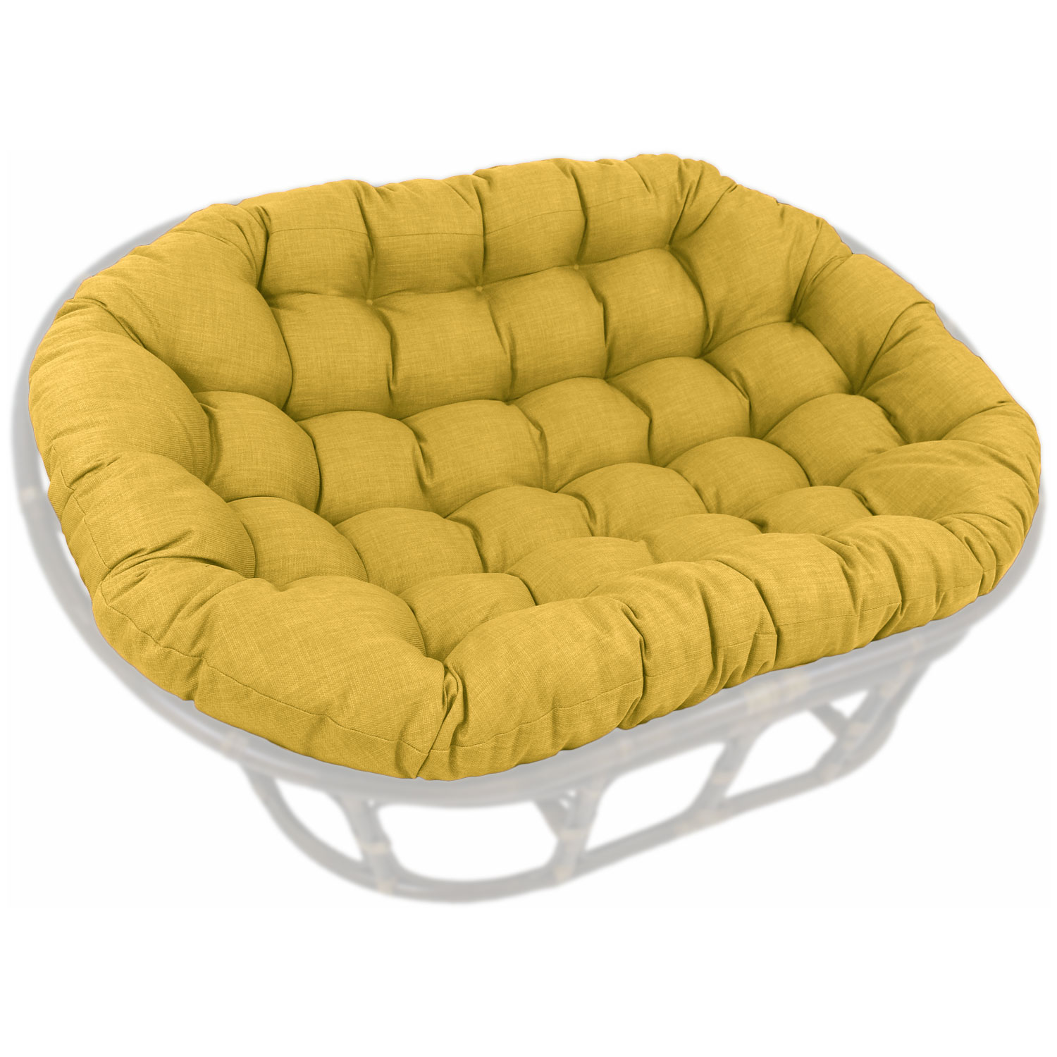 60 X 48 Outdoor Fabric Tufted Double Papasan Cushion Blz