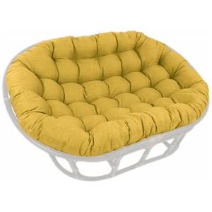 60%27%27 x 48%27%27 Outdoor Fabric Tufted Double Papasan Cushion