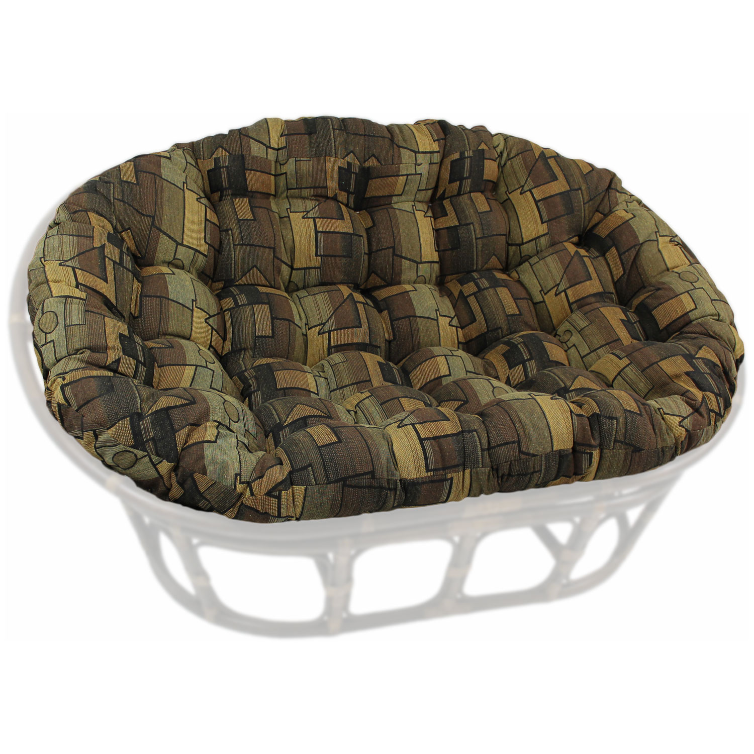 60 X 48 Tapestry Fabric Tufted Double Papasan Cushion