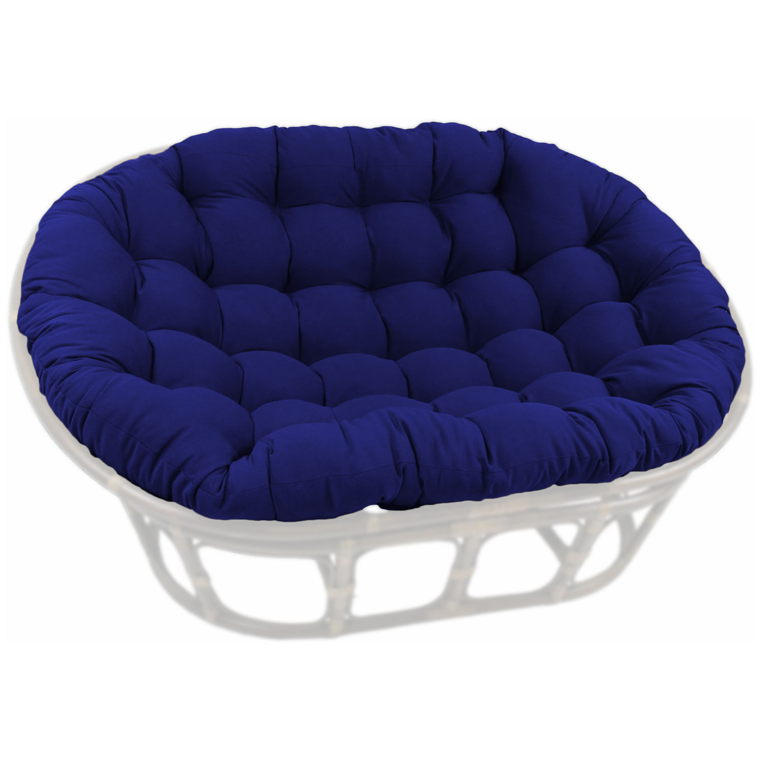 60'' x 48'' Solid Twill Tufted Double Papasan Cushion